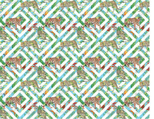 Load image into Gallery viewer, Geometrical Tropic Tiger Leopard Pattern - Icing - ISA073-Icing/Frosting Paper-Sugar Art