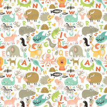 Load image into Gallery viewer, Children Alphabet Animals Pattern - Icing - ISA083-Icing/Frosting Paper-Sugar Art
