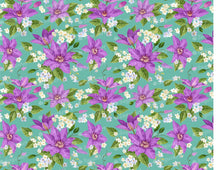 Load image into Gallery viewer, Purple Clematis Flowers Pattern Sugar Art