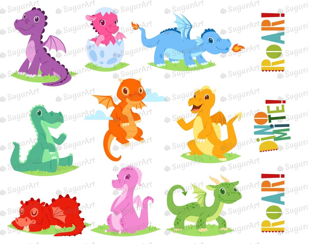Dinomite Roar Collection Sugar Art