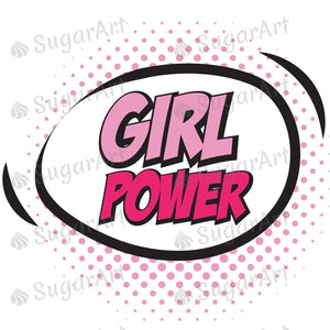 Girl Power Retro Pop Art Sugar Art