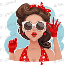 Load image into Gallery viewer, Girl Power Retro Pop Art Sugar Art