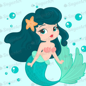 Mermaid Two Characters Sugar Art