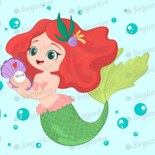 Load image into Gallery viewer, Mermaid Two Characters Sugar Art