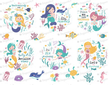 Load image into Gallery viewer, Set Of Cute Mermaids Seaweeds And Marine Inhabitants Sugar Art