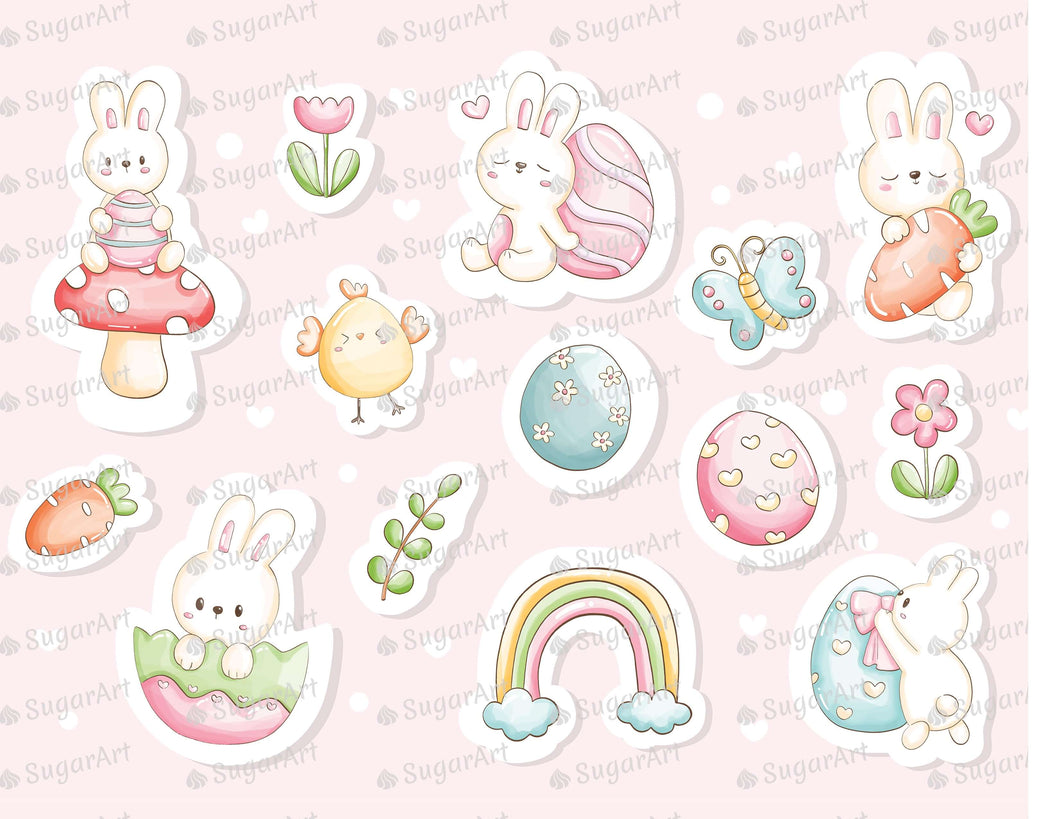 Watercolor Happy Easter Say Stickers - Icing - ISA249