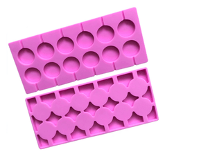 "Round Cavity Silicone Mold for Lollipops - 12 Cavity 1.1"" (2.8cm) each"