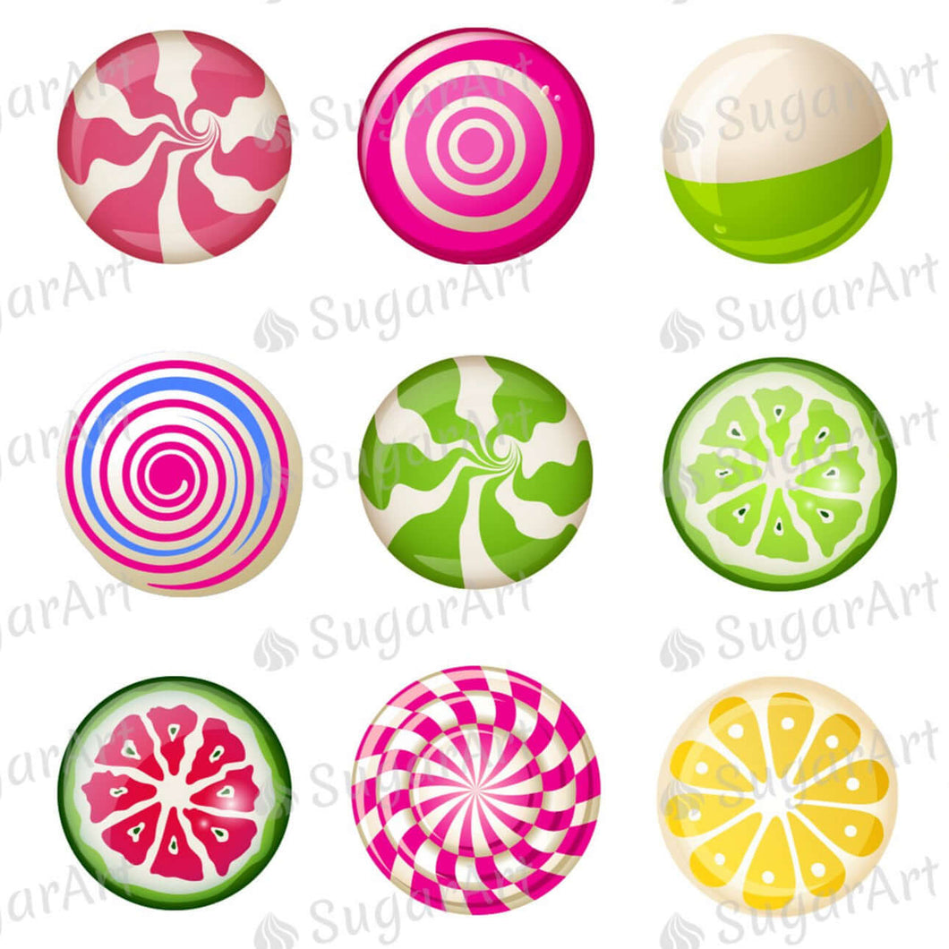 Lollipops Collection for charms - Round Stencil Mat - ESA115