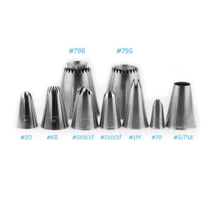 Top pick piping nozzles set of 9 pcs for Meringues & other Desserts - Sugar Art