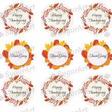 Load image into Gallery viewer, Happy Thanksgiving - SA08-Sugar Stamp sheets-Sugar Art