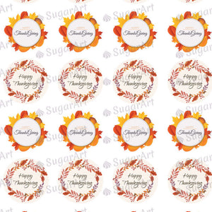 Happy Thanksgiving - SA08-Sugar Stamp sheets-Sugar Art