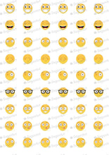 Load image into Gallery viewer, Smileys Happy - SA09-Sugar Stamp sheets-Sugar Art