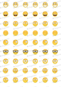 Smileys Happy - SA09-Sugar Stamp sheets-Sugar Art