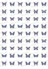 Load image into Gallery viewer, Purple Butterflies - SA14 - Sugar Art