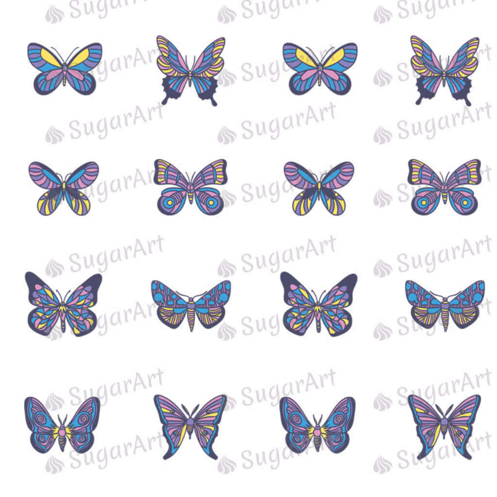 Purple Butterflies - SA14