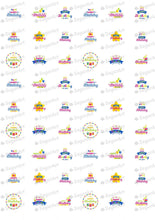 Load image into Gallery viewer, Happy Birthday - SA17-Sugar Stamp sheets-Sugar Art