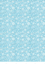 Load image into Gallery viewer, Winter, White snowflakes on blue background - SA30 - Sugar Art