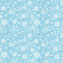 Load image into Gallery viewer, Winter, White snowflakes on blue background - SA30-Sugar Stamp sheets-Sugar Art