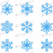 Load image into Gallery viewer, Christmas, Blue Snowflakes - SA31 - Sugar Art