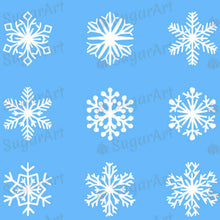 Load image into Gallery viewer, Christmas, White Snowflakes - SA32-Sugar Stamp sheets-Sugar Art