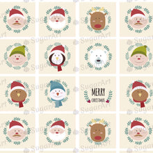 Load image into Gallery viewer, Funny Christmas Characters - SA34-Sugar Stamp sheets-Sugar Art