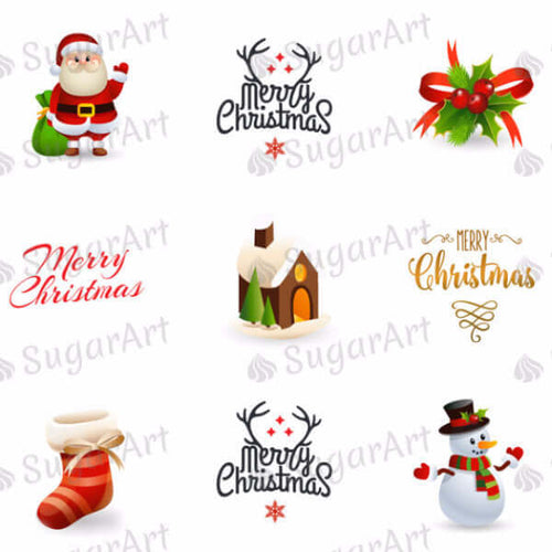 Merry Christmas - SA42-Sugar Stamp sheets-Sugar Art