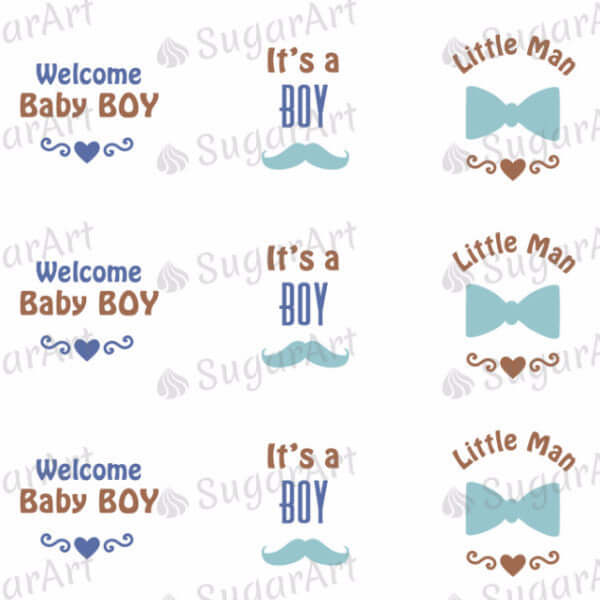 Little Man, Baby Boy, Mustache - SA46
