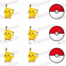 Load image into Gallery viewer, Pikachu, Pokemon Ball - SA50 - Sugar Art