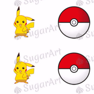 Pikachu, Pokemon Ball - SA50 - Sugar Art