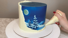"Load image into Gallery viewer, ● Recorded! LIVE ""Winter Night"" Cake Decorating Class With Pamela from Buttercut Bakery"