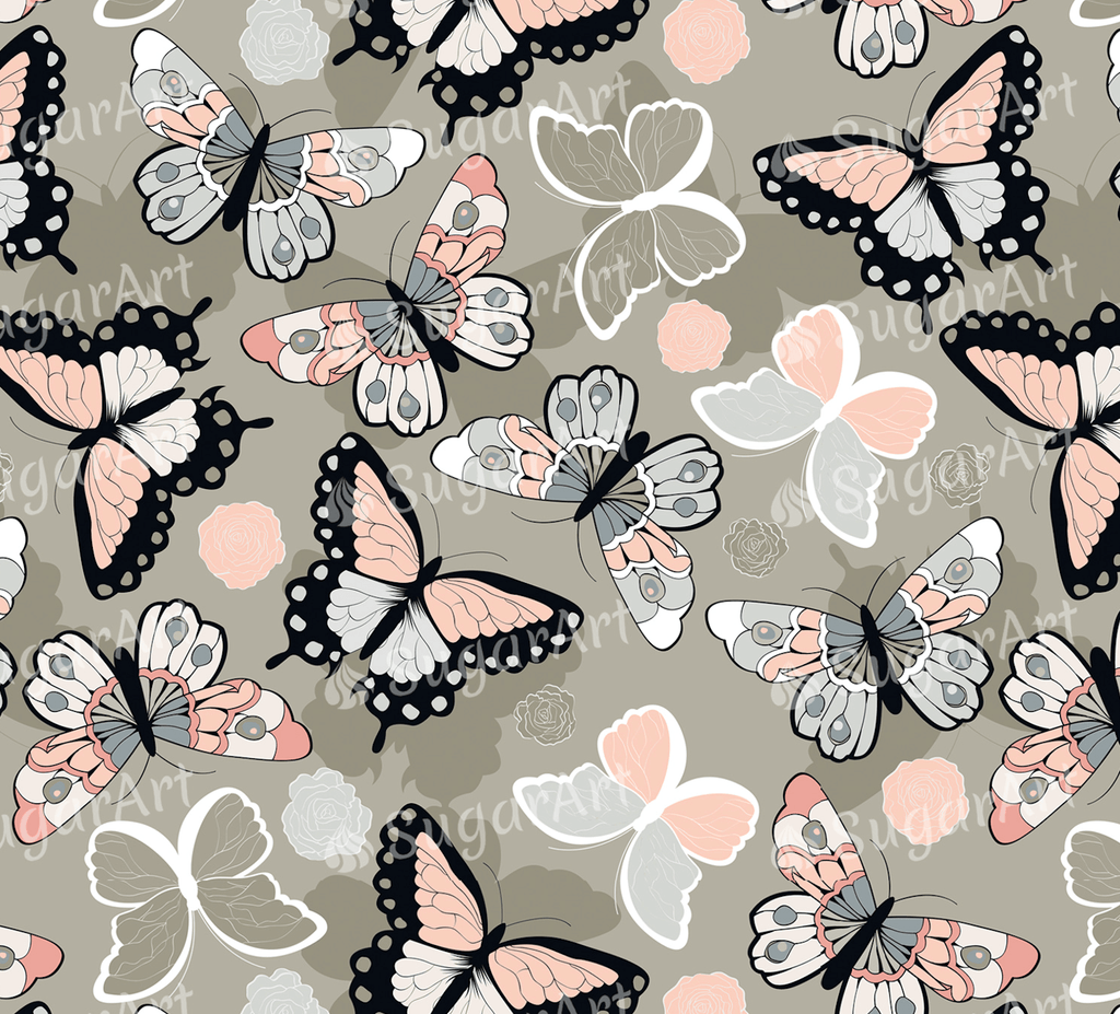 Colorful Butterflies - Icing - ISA004