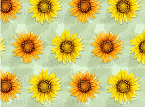 Sunflowers Pattern - Icing - ISA007-Icing/Frosting Paper-Sugar Art