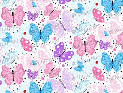 Flying Colorful Butterflies - Icing - ISA009