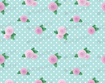 Shabby Chic Roses Background- Icing - ISA018