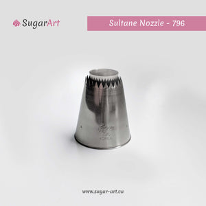 "Open ""Sultane"" Piping Nozzle 796-Piping Tips-Sugar Art"