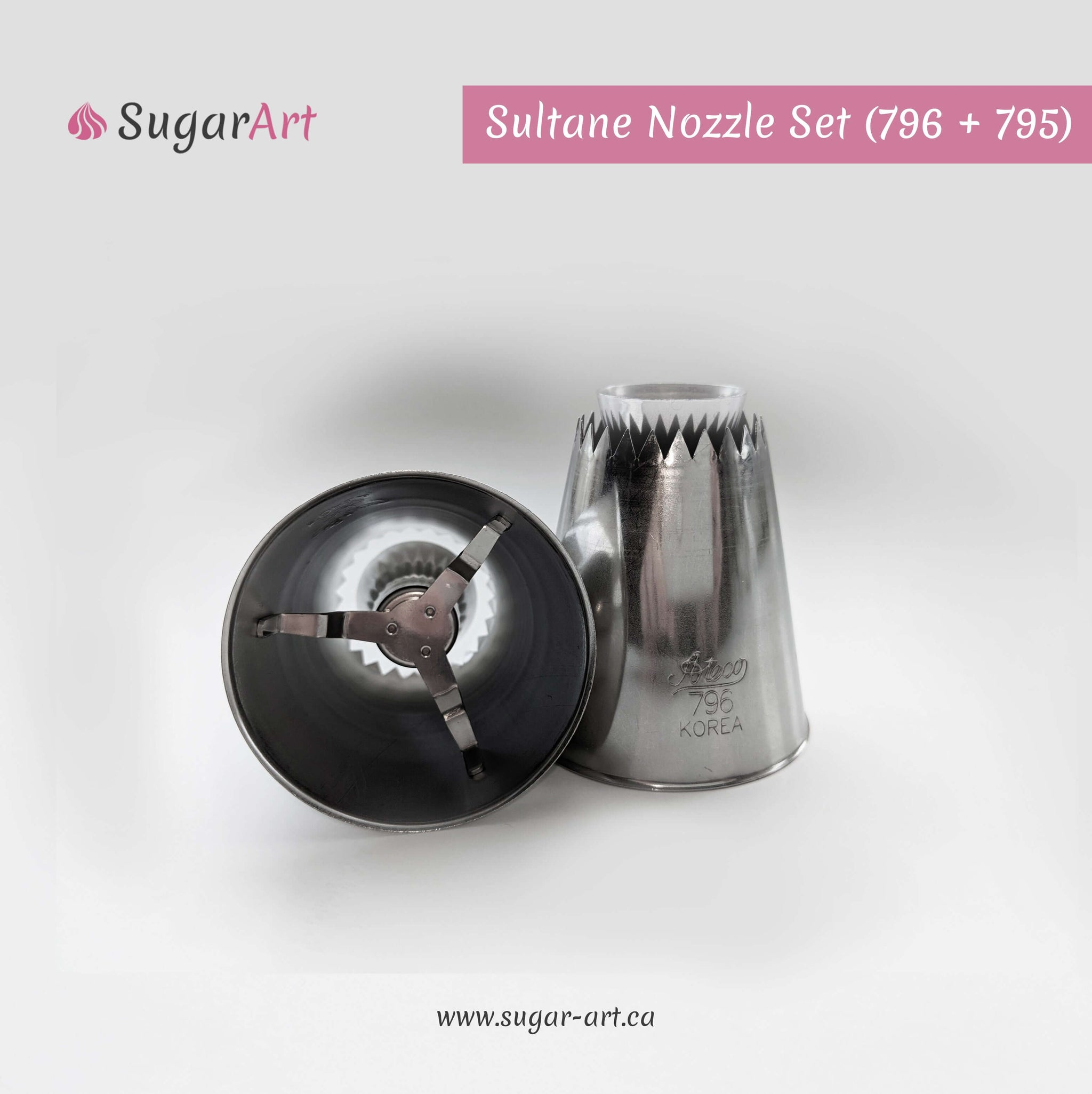 """Sultane"" Piping Nozzle Set of 2 (Closed + Open)"