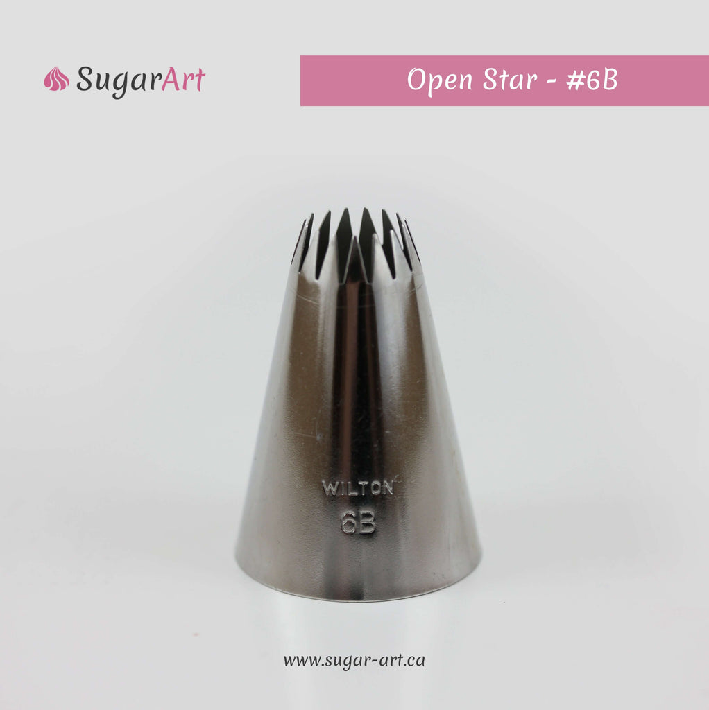 Open Star Piping Tip 6B
