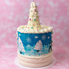 "Load image into Gallery viewer, Italian LIVE ""Winter Holiday"" Cake Decorating Class con Pamela di Pamela Cake Planner"
