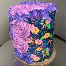 Load image into Gallery viewer, Vintage Floral Pattern - Icing - ISA093-Icing/Frosting Paper-Sugar Art