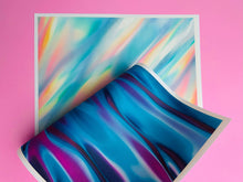 Load image into Gallery viewer, Blue Iridescent Wavy Silk - Edible Fabric - EF031