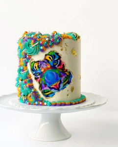 Colorful Tiger Face - Icing - ISA080