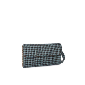 Limited Edition Clutch L Pta. de gallo verde agua