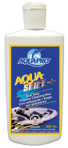Aqua-Pro Professional (8020) AQUA SHINE PLUS - One Step PTEF Polymer Fiberglass Cleaning Wax and Colour Restorer with Carnuba and UV Protection 500ml