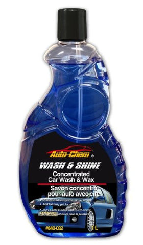 Auto-Chem Professional (840-032) WASH & SHINE - Concentrated Wash & Wax with Carnuba 32 oz