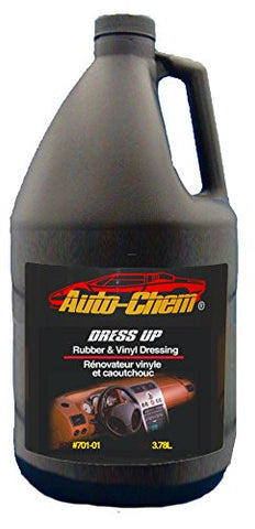 Auto-Chem Professional (701-01) DRESS UP - Rubber and Vinyl Satin Dressing and Protectant Detailing Spray- Biodegradable- Body Shop Safe- Silicone Free 1 Gallon