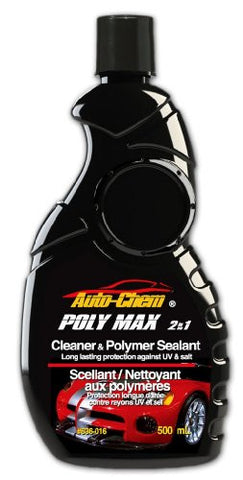 Auto-Chem Professional (636-016) - POLY MAX-2 in 1- Polymer Cleaning Wax and Sealant (16 ounce) UV and Salt Protectant