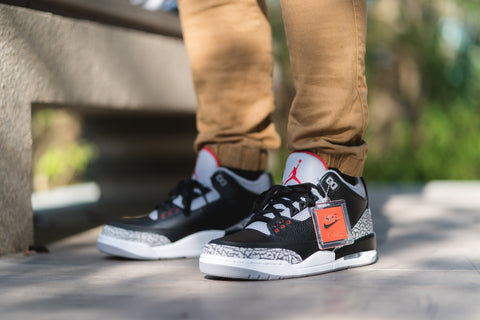 "Air Jordan 3 Black Cement ""Nike Air"" 2018"