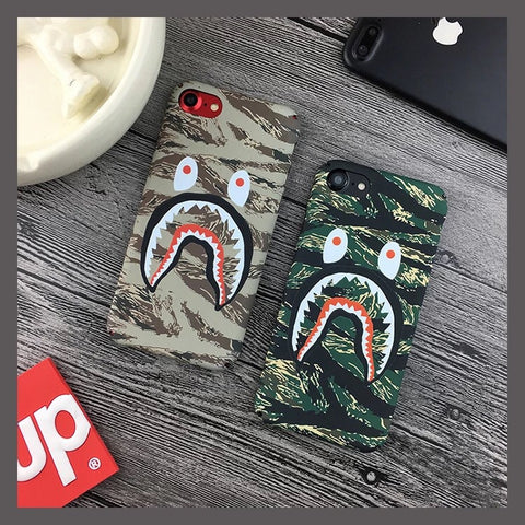 Tiger Camo Shark iPhone 6,6+,7,7+ cases