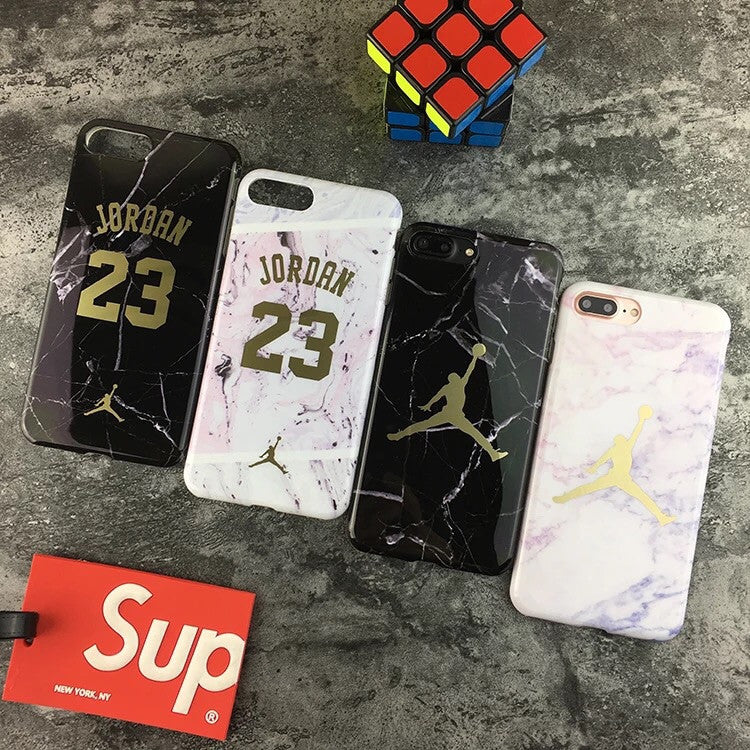 Marble style 23 / Jumpman logo iPhone 6,6+,7,7+ cases