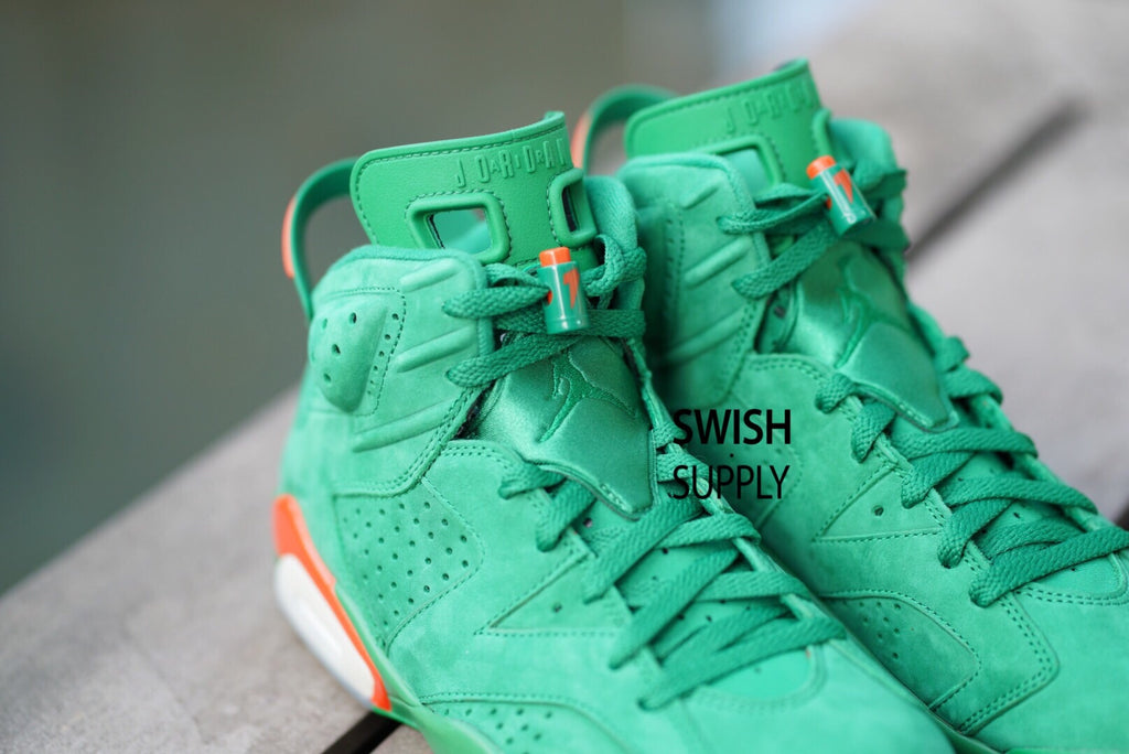 Air Jordan 6 Gatorade Green Suede